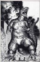 Godzilla Pinup Comic Art