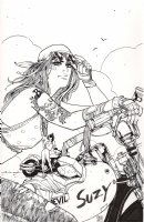 Betty and Veronica Vixens 7 Cover Archie Comic Art