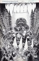 Witchblade Aliens Darkness Predator Top Cow Crossover Issue 2 Pinup Comic Art