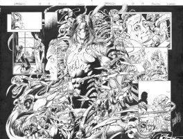 Darkness 13 pg 13-14 double page splash Comic Art