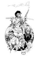 Lady Michonnika Zombie Pinup Big Wow Mechanika Comic Art