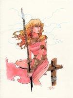 Warrior Woman pinup Comic Art