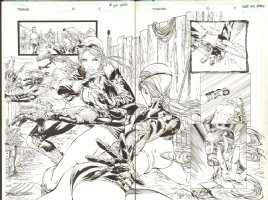 Tomb Raider 46 pg 18-19 dps Comic Art