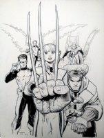 X-men Blue 4 Cover Comic Art
