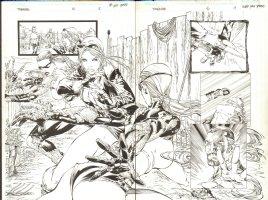 Tomb Raider 46 pg 18 - 19 dps Comic Art