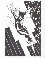 Bruce Timm Batgirl Pinup Comic Art
