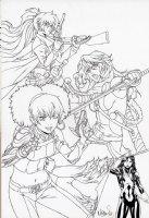 The Fearless Defenders 9 Cover Dani Moonstar Comic Art