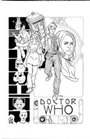Doctor Who Tenth Doctor David Tennant Martha Comic Art