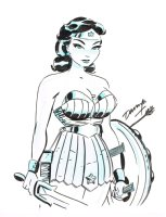 Darwyn Cooke Wonder Woman Comic Art
