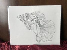 Fish Drawing Prelim 1 Comic Art