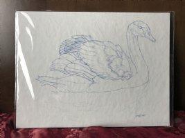 Gathering in the Mist prelim sketch Swan Comic Art
