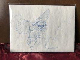 Great Grey Sunrise owl sketch prelim Comic Art