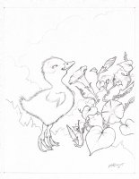 Sir Floaty Sunnytufts duckling sketch prelim Comic Art