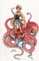 Lola XOXO Comikaze Pinup Comic Art