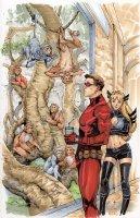 Uncanny X-men 35 Cover featuring Cyclops and Magik Comic Art