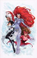 Avengers and X-men: Axis 1 Cover featuring Medusa Storm and Scarlet Witch Comic Art