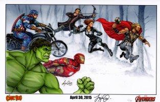 Art Print - Avengers Comic Art