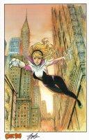 Art Print - Edge of Spider-Verse 2 Gwen Stacy Spider-Woman Spider-Gwen Comic Art