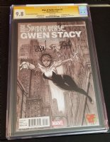 CGC 9.8 Edge of Spider-Verse 2 Gwen Stacy Spider-Woman Spider-Gwen black and white variant double signed Comic Art