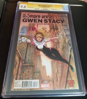 CGC 9.8 Edge of Spider-Verse 2 Gwen Stacy Spider-Woman Spider-Gwen double signed Comic Art