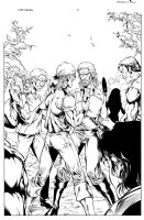 More than Mortal Famine 6 pg 1 Comic Art