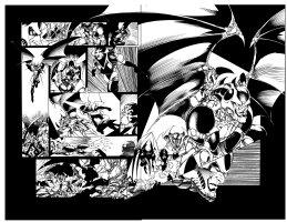 Weapon Zero 13 pg 9 - 10 Comic Art